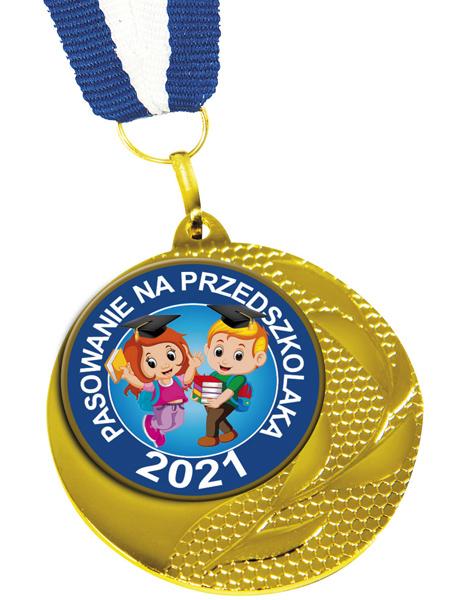Medal Pasowania na przedszkolaka Med-04 z nadrukowanym rokiem