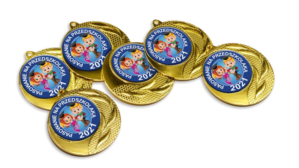 Medale pasowania na przedszkolaka