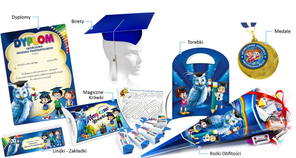 Upominki dla przedszkolaków na ukończenie oddziału przedszkolnego (Sowa)