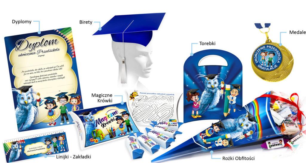 Zestaw promocyjny: Upominki na ukończenie przedszkola (motyw Sowa)