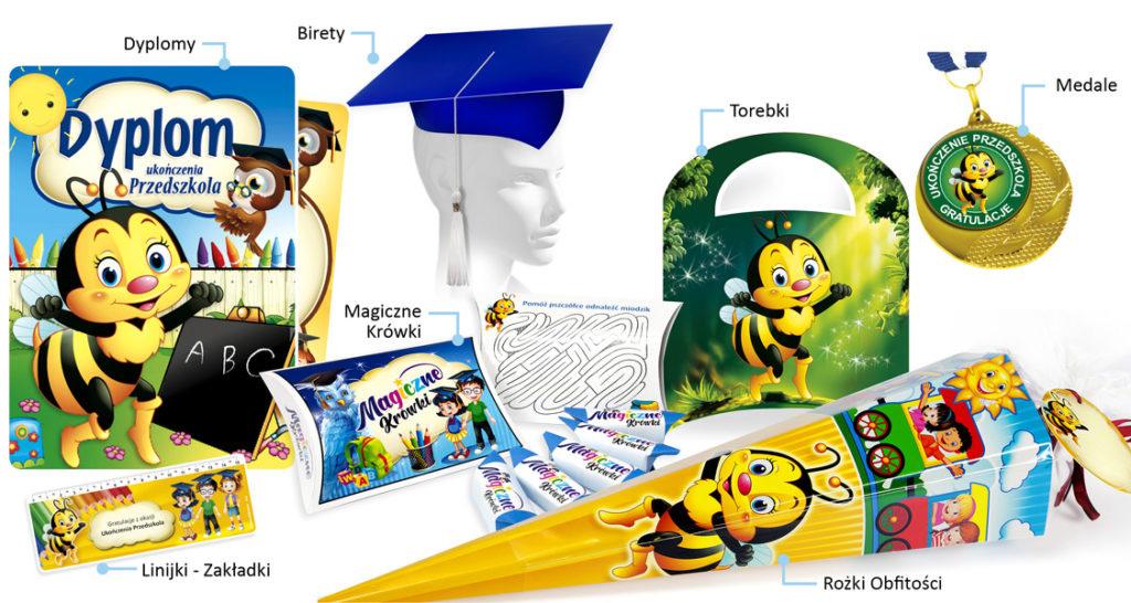 Rożki obfitości R-12 w zestawie promocyjnym na ukończenie przedszkola