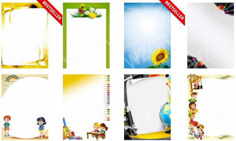 Arkusze barwne do produkcji dyplomów dla dzieci